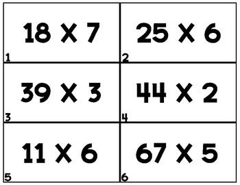 MULTIPLICATION TASK CARDS SET 2