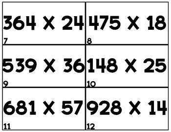 MULTIPLICATION TASK CARDS SET 4