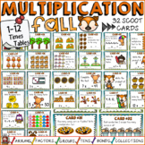 MULTIPLICATION: TIMES TABLES (1-12): FALL THEMED: SCOOT CARDS