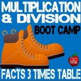 3 Times Table MULTIPLICATION DIVISION FACTS TIMES TABLES B