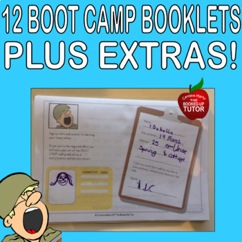 MULTIPLICATION DIVISION FACTS TIMES TABLES 1-12 BOOT CAMP 12 x 20 page books