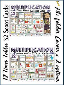 MULTIPLICATION: TWELVE TIMES TABLES FACTS: SCOOT CARDS