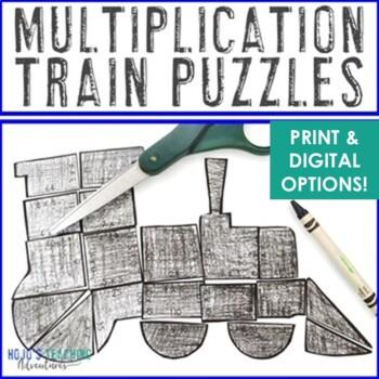 MULTIPLICATION Train Activity | FUN Polar Express Math Activity or Lesson