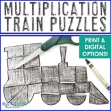 MULTIPLICATION Train Activity | FUN Polar Express Math Lesson, Game, or Centers