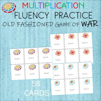 "MULTIPLICATION Card Game  ""WAR""  Fact Practice"