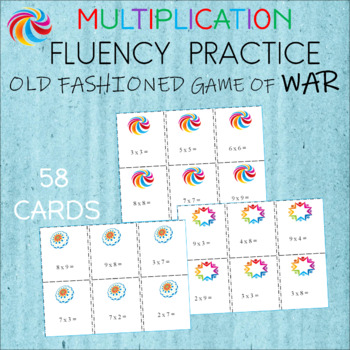 "MULTIPLICATION PRACTICE  Card Game  ""WAR""  Fact Practice"