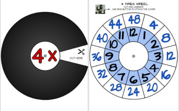 MULTIPLICATION WHEELS AND WORKSHEETS