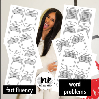MULTIPLICATION WORD PROBLEM TASK CARDS: CARDI B THEMED
