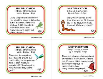 MULTIPLICATION WORD PROBLEMS | Fun Insect Theme | Grades 4-5 MATH