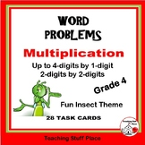 MULTIPLICATION WORD PROBLEMS - Fun Insect Theme     Grades 4-5 MATH