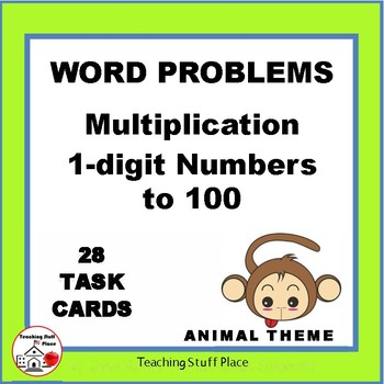 MULTIPLICATION WORD PROBLEMS | ANIMALS | Multiply to 100 | Core Grade 3 MATH