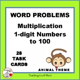 MULTIPLICATION WORD PROBLEMS | ANIMALS | Multiply to 100   Core Grade 3 MATH