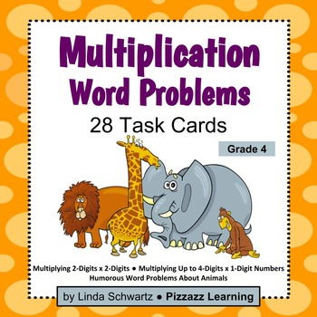 MULTIPLICATION WORD PROBLEMS • Grade 4