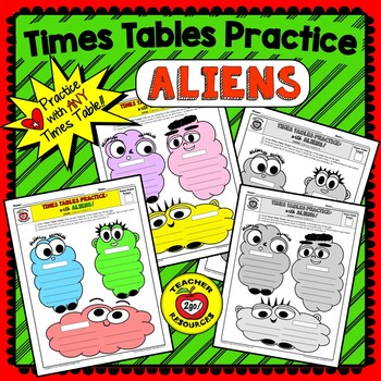 """MULTIPLICATION  or DIVISION """"ALIEN FACTS PRACTICE"""" - The Handy Hands Way!"""