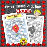 Times Tables Practice: Clouds (Color and B&W)