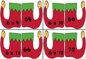 MULTIPLICATION:  flashcards and activities. Math Centers. CHRISTMAS THEME