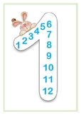 MULTIPLICATION table posters - bunnies theme