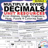 MULTIPLY AND DIVIDE DECIMALS BUNDLE Error Analysis, Graphi