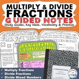 MULTIPLY AND DIVIDE FRACTIONS Doodle Math Interactive Note