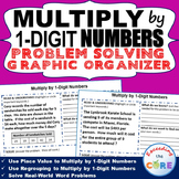 MULTIPLY BY 1-DIGIT NUMBERS Word Problems with Graphic Organizers