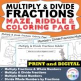 MULTIPLY & DIVIDE FRACTIONS Maze, Riddle, Coloring | Googl