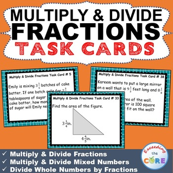 CIRCUMFERENCE and AREA of CIRCLES Word Problems - Task Cards {40 ...