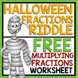 HALLOWEEN MULTIPLY FRACTIONS RIDDLE