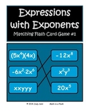 MULTIPLY MONOMIALS WITH EXPONENTS FLASH CARD GAME