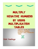MULTIPLY NEGATIVE NUMBERS BY USING MULTIPLICATION TABLES