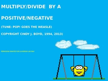 MULTIPLY OR DIVIDE AN INEQUALITY BY A POSITIVE OR NEGATIVE SONG