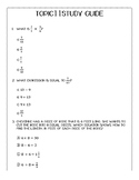 MULTIPLYING AND DIVIDING FRACTIONS AND MIXED NUMBERS STUDY GUIDE