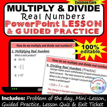 MULTIPLYING AND DIVIDING REAL NUMBERS PowerPoint Presentation