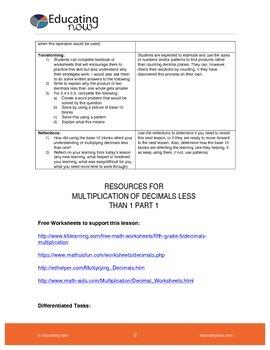 MULTIPLYING DECIMALS LESS THAN 1 USING BASE 10 BLOCKS PART 1