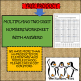 MULTIPLYING TWO DIGIT NUMBERS WORKSHEET WITH ANSWERS
