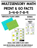 MULTISENSORY MULTIPLICATION PRINT AND GO MATH FACTS - 3, 4