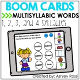 MULTISYLLABIC WORDS | BOOM Cards™️ Speech Therapy Distance