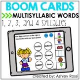 MULTISYLLABIC WORDS | Speech Therapy BOOM Cards™️