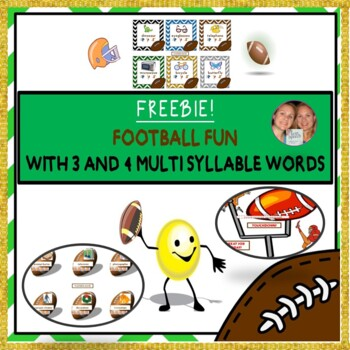 MULTISYLLABLE FREEBIE: Getting Sporty WITH 3, and 4 MULTISYLLABLE WORDS
