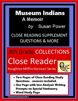 MUSEUM INDIANS Memoir Close Reading Study
