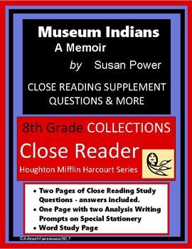 MUSEUM INDIANS Memoir Close Reading Study