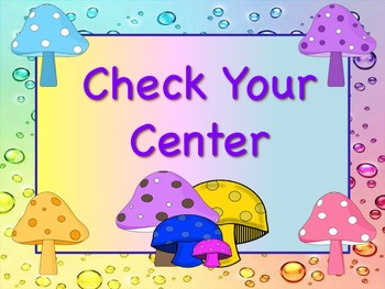MUSHROOM Themed Station/Center Signs Great Classroom Management!