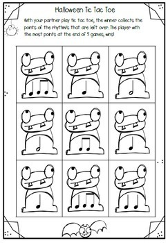 MUSIC - 10 Halloween Rhythm Activities