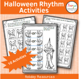 Halloween Music Rhythm Worksheets
