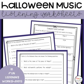 MUSIC- 10 Music Halloween Listening Activities