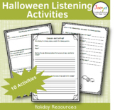 Halloween Music Listening Worksheets