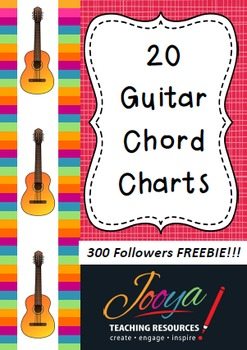 MUSIC - 20 Guitar Chord Charts 300 Follower FREEBIE!