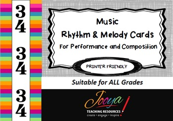 MUSIC-3/4 Rhythm and Melody Cards for Performance and Composition