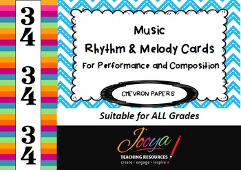 MUSIC- 3/4 Rhythm and Melody Cards for Performance and Com
