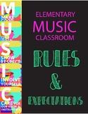 Classroom Rules & Expectations - MUSIC CHOIR BAND