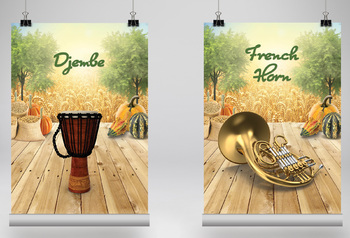 MUSIC: 40 Musical Instrument Poster - Fall Edition [8.5x11]